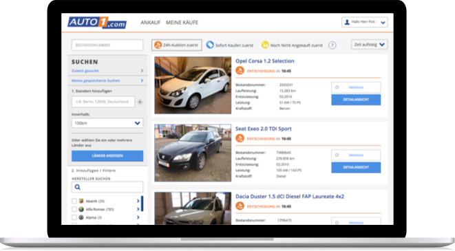 AUTO1 com - Exclusive used cars for dealers